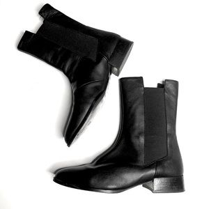 Andre Assous Leather Pointed Toe Boots